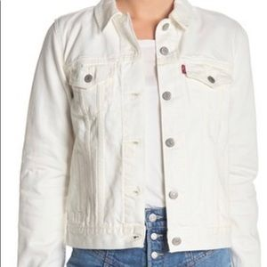 Levi's Jackets & Coats - Levi's Original Trucker Jacket- White NWT